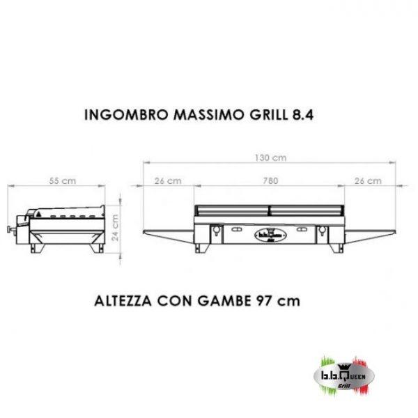 grill 8-4 dimensioni bbqueengrill