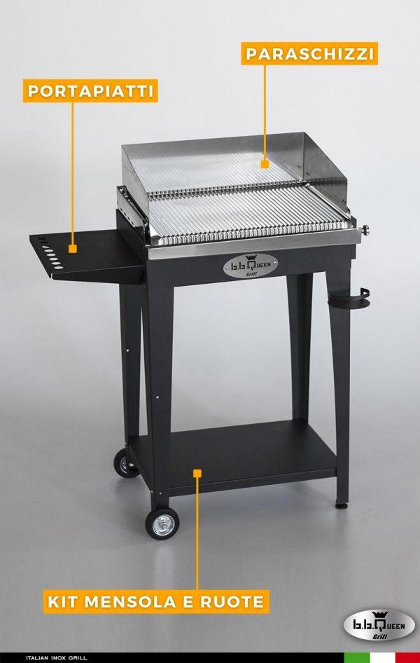 grill gas 64 antracite dettagli bbqueengrill